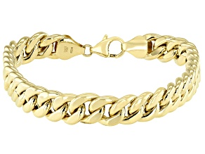 "10K Yellow Gold Stellar Curb 8.25"" Bracelet"