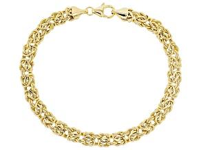 10K Yellow Gold 6MM Polished Byzantine 7.5
