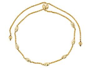 10K Yellow Gold 2.90MM Polished and Diamond Cut Bead Wheat 9