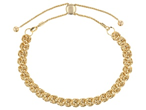 10K Yellow Gold 6.17MM Polished and Diamond Cut Rosetta Link Bolo 9