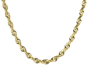"10K Yellow Gold 3.30MM Solid 20"" Rope Chain"