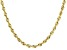 """10K Yellow Gold 3.30MM Solid 24"""" Rope Chain"""