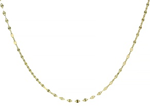 10K Yellow Gold 18 Inch Valentino Necklace