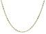 10K Yellow Gold Diamond Cut Rhodium Accent 2.45MM Mariner Chain 18 Inch Necklace
