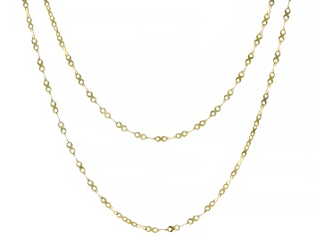 Picture of 10K Yellow Gold Valentino X Designer Chain Set of 2 18 and 20 Inch Necklaces