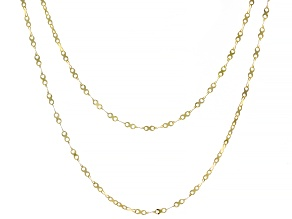 10K Yellow Gold Valentino X Designer Chain Set of 2 18 and 20 Inch Necklaces
