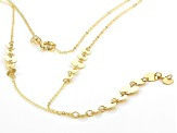 10K Yellow Gold Graduated Circles 18 Inch Necklace