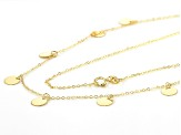 10K Yellow Gold Station Circles 18 Inch Necklace