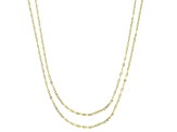 10K Yellow Gold Petali Chain Set of 2 18 and 20 Inch Necklaces