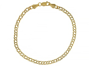 10K Yellow Gold 4MM Double Curb Bracelet