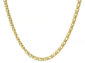 10K Yellow Gold 4MM Double Curb Chain 20 Inch Necklace
