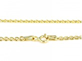 10K Yellow Gold 2.5MM Designer Love Chain 18 Inch Necklace