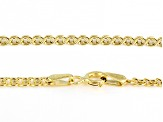 10K Yellow Gold 2.5MM Designer Love Chain 20 Inch Necklace
