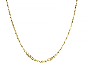 10K Yellow Gold 2.5MM Designer Love Chain 24 Inch Necklace