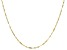 10K Yellow Gold 1.4MM Singapore Bar 20 Inch Necklace
