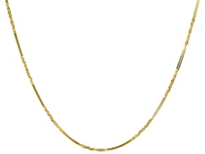 10K Yellow Gold 1.5MM Criss-Cross Alternated Chain 20 Inch Necklace
