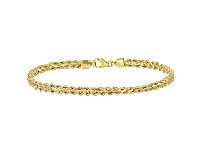 10K Yellow Gold 4.2MM Cuore Rope Bracelet