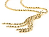 10K Yellow Gold Tassel Rope Chain 20 Inch Necklace