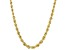 10K Yellow Gold Graduated Rope Chain 20 Inch Necklace