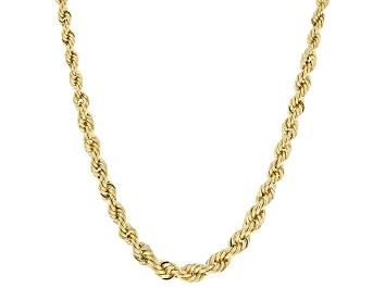 Picture of 10K Yellow Gold 3.8MM-2.1MM Graduated Rope Chain 18 Inch Necklace
