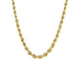 10K Yellow Gold 3.8MM-2.1MM Graduated Rope Chain 18 Inch Necklace