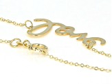 "10K Yellow Gold Handwritten ""Love"" 18 Inch Necklace"