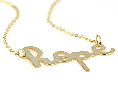 "10K Yellow Gold Handwritten ""Hope"" 18 Inch Necklace"