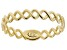 10K Yellow Gold Twisted High-Polished Curb Ring
