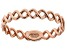 10K Rose Gold Twisted High-Polished Curb Ring