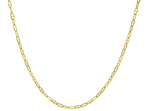 10k Yellow Gold 1mm Twisted Mariner Chain 22 inch Necklace