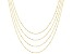 10K Yellow Gold 0.80MM Flat Rolo Set of Four 16, 18, 20, and 22 Inch Chains