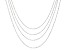10K White Gold 0.80MM Flat Rolo Set of Four 16/18/20/22 Inch Chains