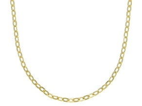 10K Yellow Gold 1.4MM Mirror Rolo Chain 20 Inch Necklace