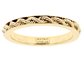 10K Yellow Gold Rope Link Ring