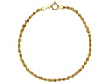 10K Yellow Gold 3.5MM Rope Link Bracelet