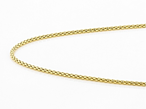 10K Yellow Gold 1.5MM Popcorn Chain 20 Inch Necklace