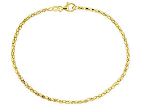 10K Yellow Gold 2.10MM Popcorn Link Bracelet