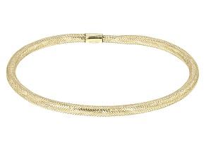 10K Yellow Gold 2.5MM Mesh Bangle Bracelet