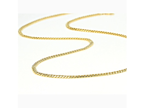 10K Yellow Gold 3.5MM Curb Chain 22 Inch Necklace