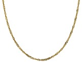 14K Yellow Gold 2.3MM Singapore Chain 18 Inch Necklace