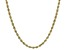 10K Yellow Gold Polished 3MM Rope chain 22 Inch Necklace