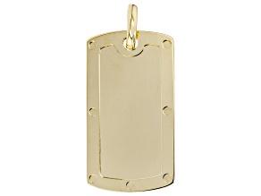 10K Yellow Gold Dog Tag Pendant