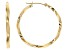 10K yellow Gold Polished 1.8x30MM Twist Tube Hoop Earrings