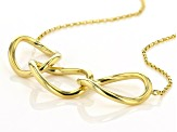 10K Yellow Gold Polished Interlock Oval Links 17 Inch Cable Chain Necklace