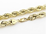 10K Yellow Gold 6.9MM Rope Chain 24 Inch Necklace