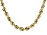 10K Yellow Gold 6.9MM Rope Chain 20 Inch Necklace