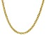 10K Yellow Polished Gold 3MM Rope Chain 20 Inch Necklace