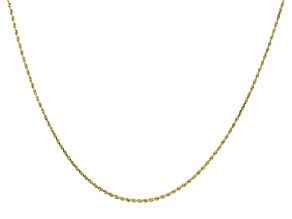 14K Yellow Gold Rope Chain 24 Inch Necklace