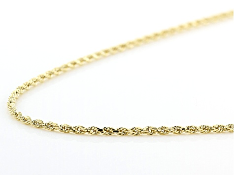 14K Yellow Gold Rope Chain 20 Inch Necklace