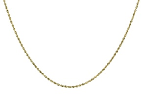 14K Yellow Gold 1.7MM Diamond-Cut Rope Chain 18 Inch Necklace